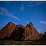 Arches National Park at night 2. - Photography by Jim Pearson © 2011