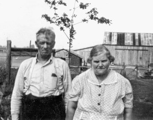 Moses and Marie Pearson at the farm on Satler Rd.