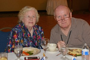 April and Jim at the Combat Camera Reunion Banquet. - Photo by Ken Hackman